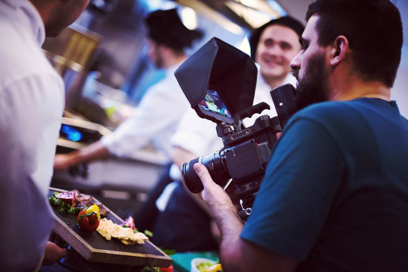commercial videography team shoots video in Raleigh